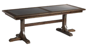 Distressed Wood Kenzie Fixed Dining Table