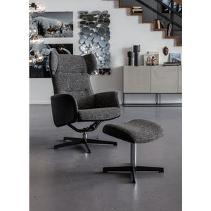 Swivel Chair with Stool
