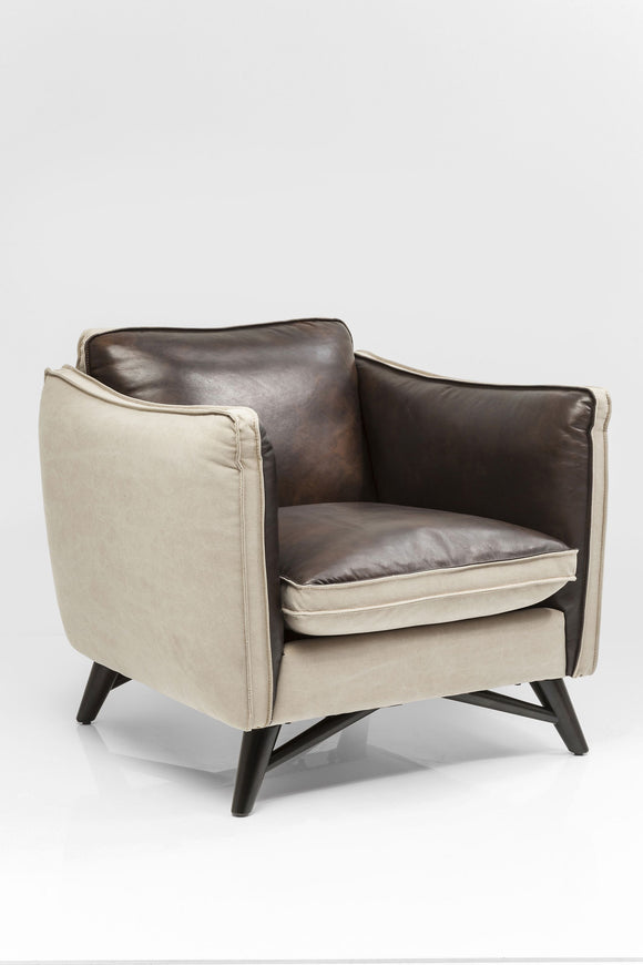 ARMCHAIR FASHIONISTA LEATHER/CANVAS