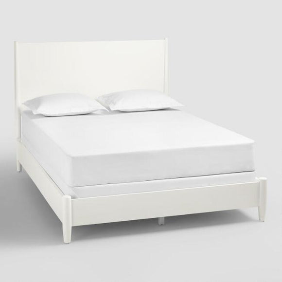 White Wood Brewton Bed - Queen