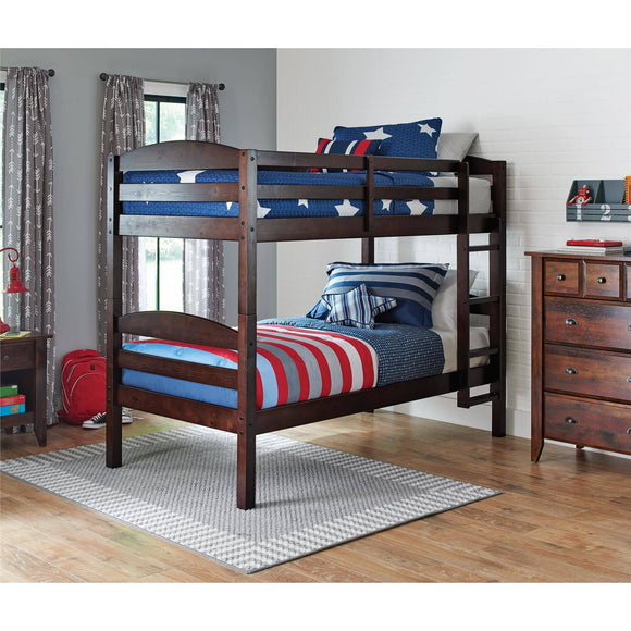 Better Homes & Gardens Leighton Twin Over Twin Wood Bunk Bed