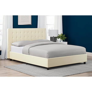Emily Faux Leather Bed - Queen