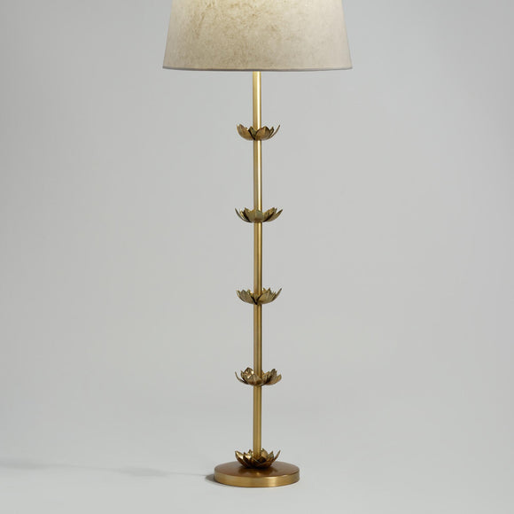 Brass Five Lotus Floor Lamp Base