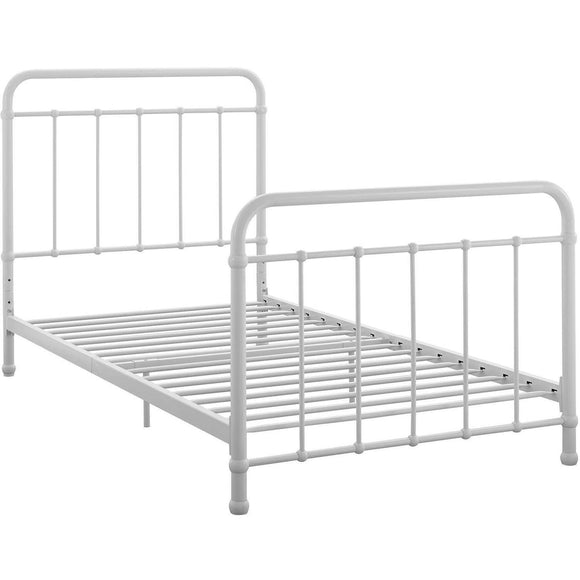 Better Homes and Gardens Kelsey Metal Bed, White - Twin