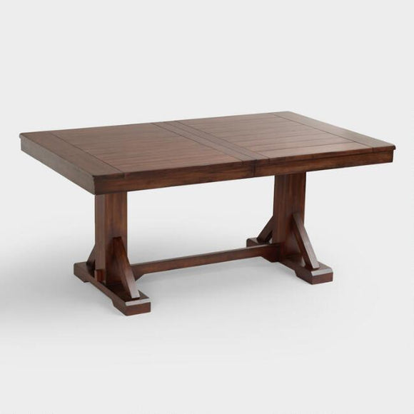 Mahogany Verona Trestle Table