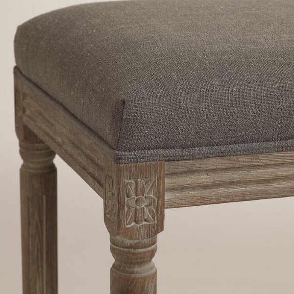 Charcoal Linen Paige Barstool