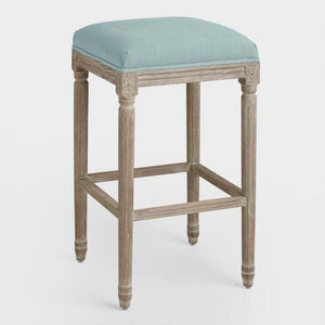Linen  Backless Barstool