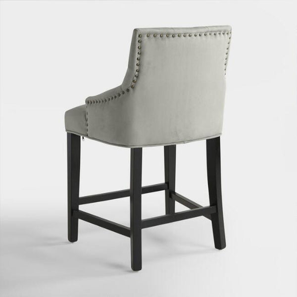 Dove Gray Lydia Upholstered Counter Stool
