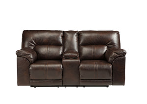 Barrettsville Double-Reclining Loveseat with Console