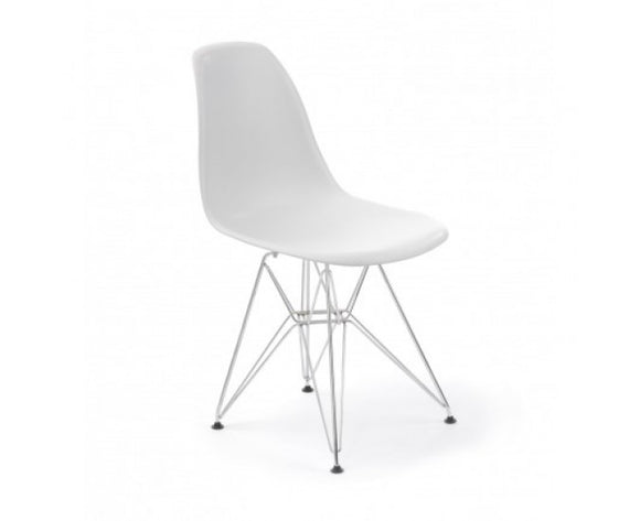 Replica Eames DSR Eiffel Chair & Chrome Legs | White