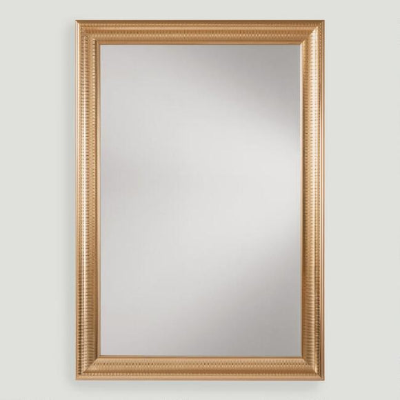 Gold Metal Framed Rectangular Mirror