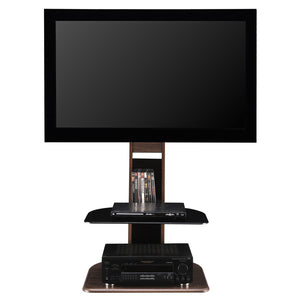 "Ameriwood Home Galaxy TV Stand with Mount for TVs up to 50"" Wide, Walnut"