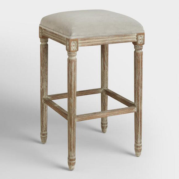 Dove Paige Backless Barstool