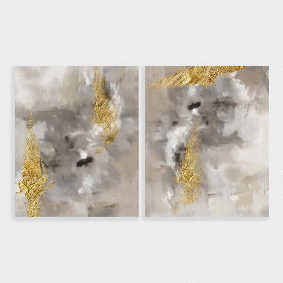 Touch Of Gold I And II Wall Art Set Of 2