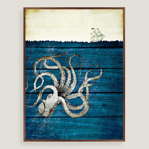 Rustic Octopus Wall Art