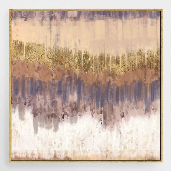 Golden Field Canvas Wall Art With Gold Leaf