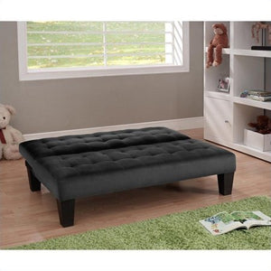 Junior Convertible Sofa in Black