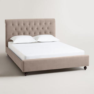 Velvet Erin Upholstered Bed - King Size, COLOR: COCOA