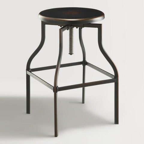 Copper Adjustable Stool