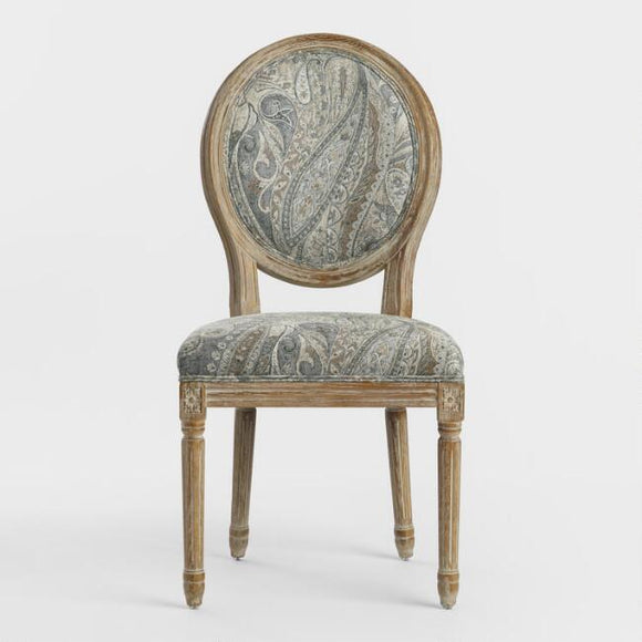 Dove Paisley Paige Round Back Dining Chair