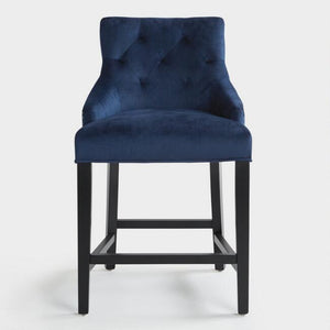 Ink Blue Lydia Upholstered Counter Stool