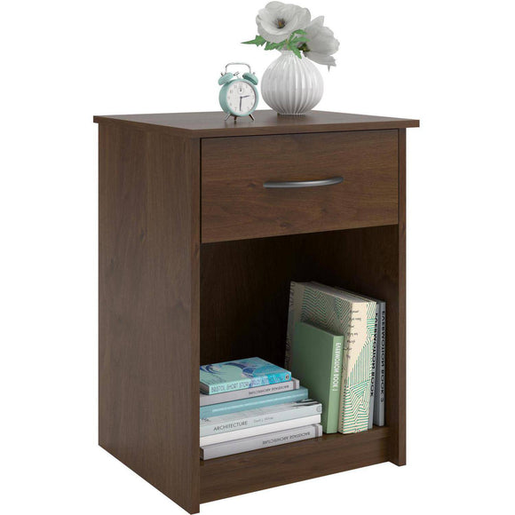 Mainstays 1-Drawer Nightstand/End Table