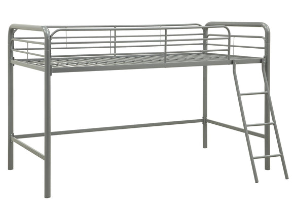 Dhp Junior Metal Loft Bed Twin Size Black Twigs Direct