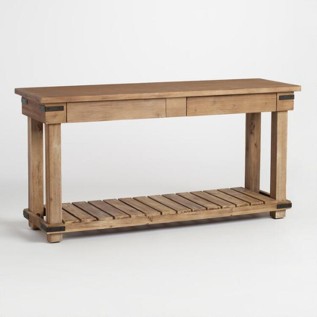 Distressed Wood Cameron Console Table