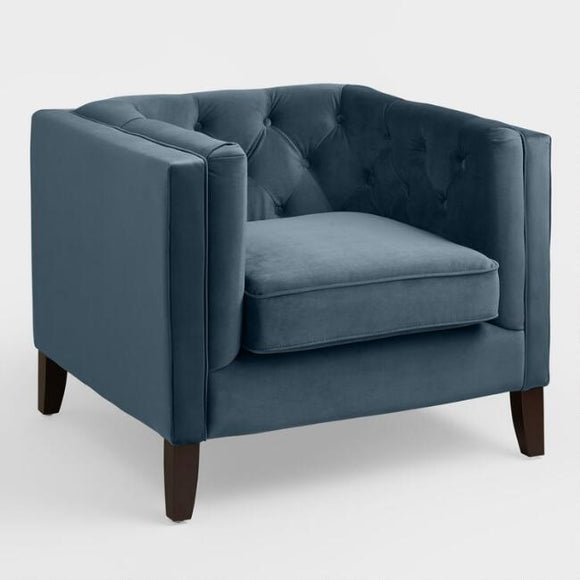 Midnight Blue Velvet Kendall Chair