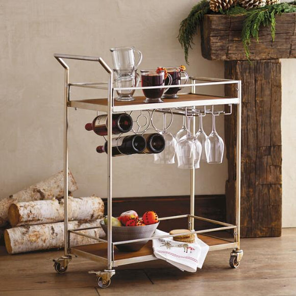 Metal And Wood Geneva Bar Cart