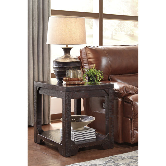 Rectangular End Table - Brown