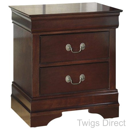 Alisdair Nightstand - 2 Drawers - Traditional - Rectangular - Dark Brown