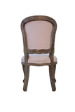 Pink Classic Elegant Upholstered High Back Dining Chair, Set of 2
