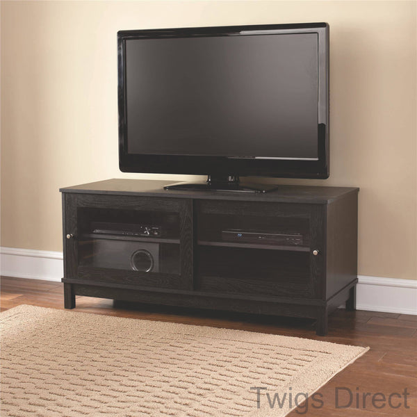 "Mainstays 55"" TV Stand with Sliding Glass Doors"
