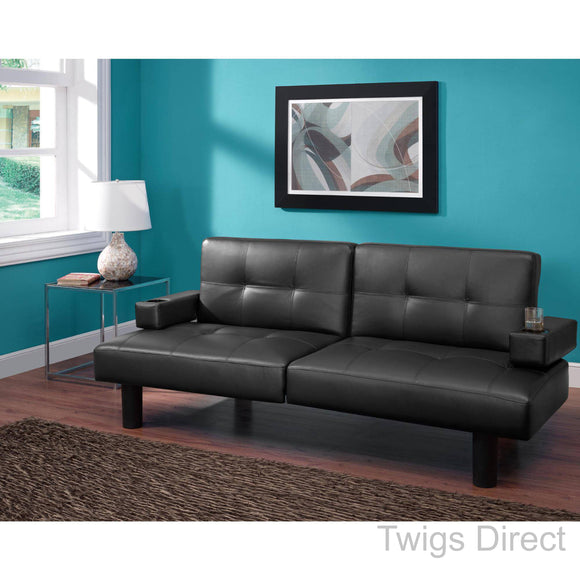 Mainstays Connectrix Faux Leather Futon