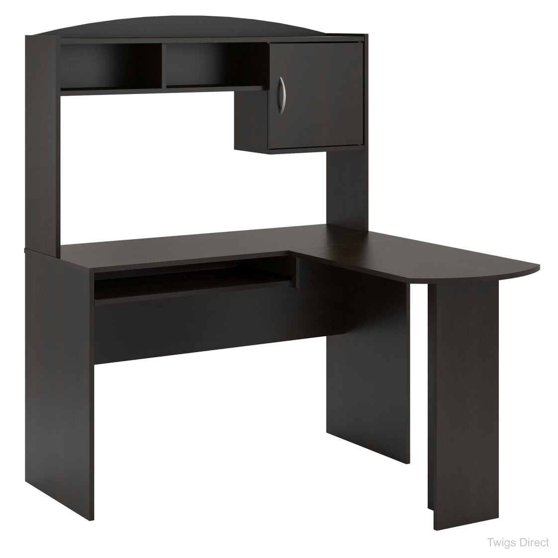 Mainstays L Shaped Desk With Hutch Multiple Colors Twigs Direct