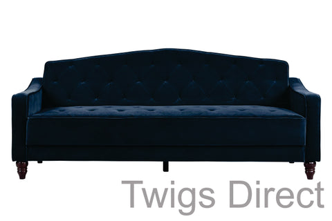 Novogratz Vintage Tufted Sofa Sleeper - Blue