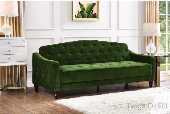 Novogratz Vintage Tufted Sofa Sleeper II