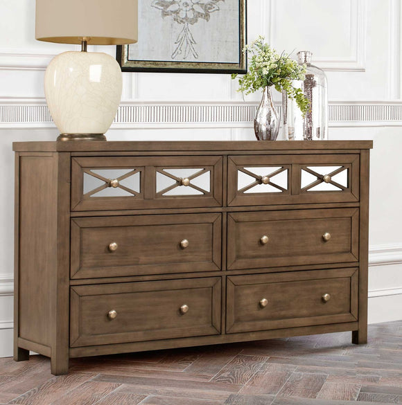 Hillsdale Randall Dresser and Mirror - Amazing Gray