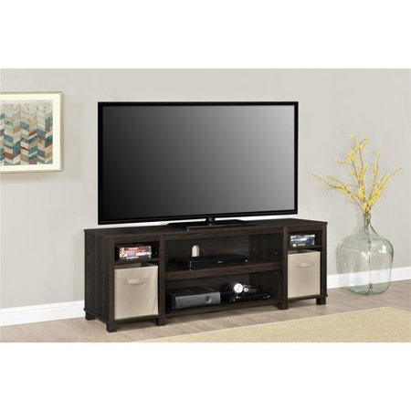 Mainstays TV Stand with Bins for TVs up to 65""