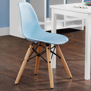 Kids Retro Molded Chair with Wood Leg
