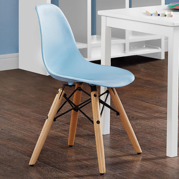DHP Kids Retro Molded Chair with Wood Leg