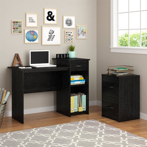 Mainstays Student Desk with Easy-glide Drawer, Black