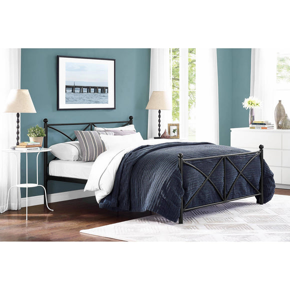 Mainstays Monaco Black Finish Metal Bed