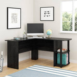 L-Shaped Desk with Side Storage