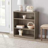 3-Shelf  Bookcase, Rustic Oak