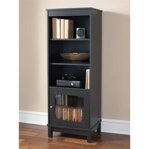 Mainstays Media Storage Bookcase, Black