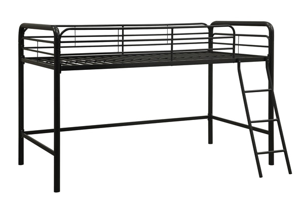 DHP Junior Metal Loft Bed, Twin Size, Black