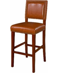 Vinyl Non-Swivel Counter Stool, Brown