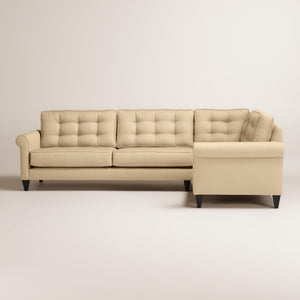 Harvard Mid-century Eco-friendly Fabric Right Facing Tufted Sectional Sofa